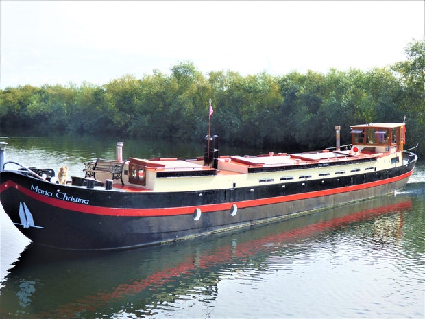 Classic Dutch Restored Dry Goods Barge