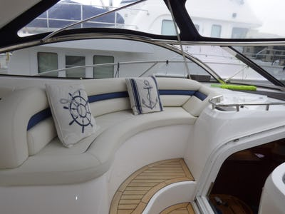 SunseekerCamargue 50Blue Juice - offered for sale by Tingdene Boat Sales