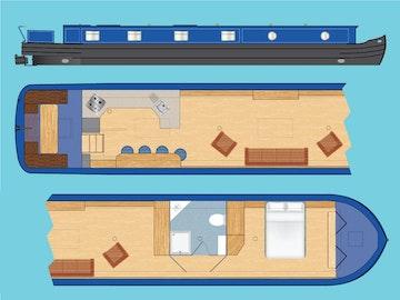Wide Beam Narrowboat Tingdene Colecraft 66 x10'04